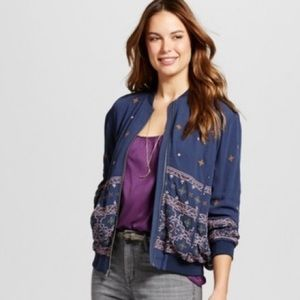 Knox Rose xxl embroidered bomber jacket NWT